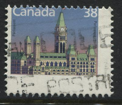 Canada QEII 38 cent Parliament Extremely Misperfed off centre used