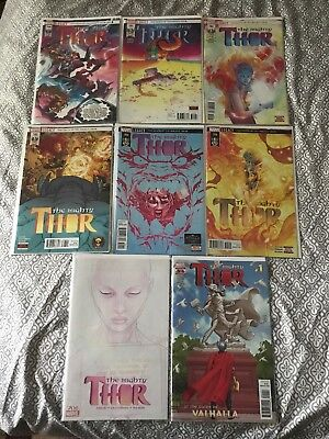 The Mighty Thor #700-706 Gates of Valhalla 1st Prints Digital codes Death of
