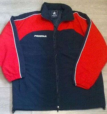 Ladies older girls PROSTAR padded training jacket sports top Blue red Size 14-16