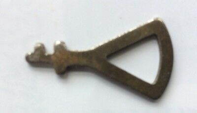 Antique Clock or FURNITURE Key,Odd Shaped Ornate Old Cabinet Or Trinket Box Key