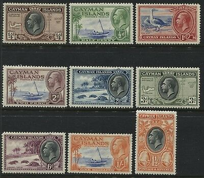 Cayman Islands KGV 1935 definitives 1/2d to 1/ mint o.g.