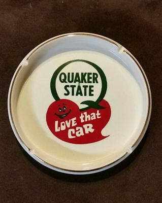 Vintage Quaker State Oil Advertising Ashtray Love That Car Perfect!