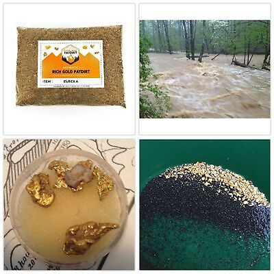 Nugget Reserve Gold Paydirt Eureka Panning Pay Dirt Bag Gold Prospecting Concent