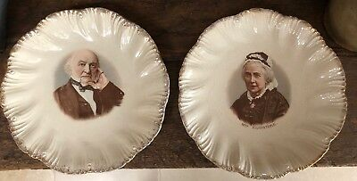 Lovely Pair of Collectible English Antique Plates - Wall Or Display