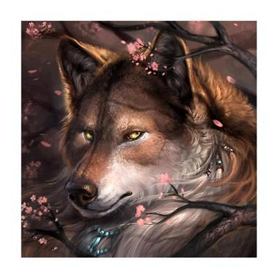 "Diamond Painting - Diamant Malerei - Stickerei - ""Einsamer Wolf""  (508/1)"