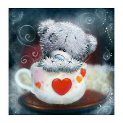 "Diamond Painting - Diamant Malerei - Stickerei - ""Teddy in Tasse"" (651/1)"