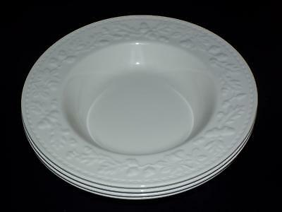 "SET OF 4 Royal Stafford SHERWOOD Embossed 10"" RIMMED SOUP BOWLS House Of Fraser"