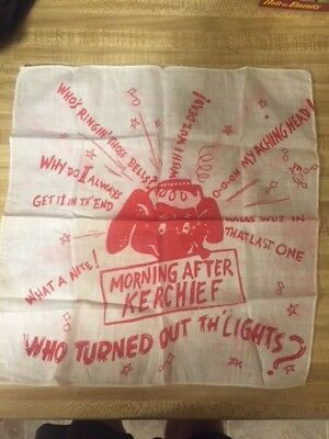 """Morning After Kerchief"" one of a kind item, handkerchief, Vintage"