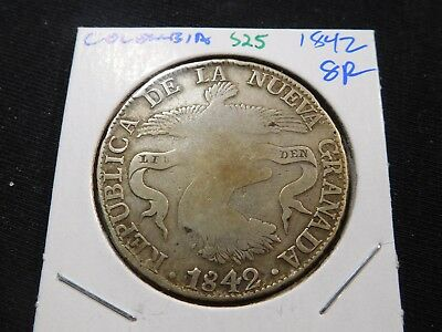 S25 Colombia 1842 8 Reales
