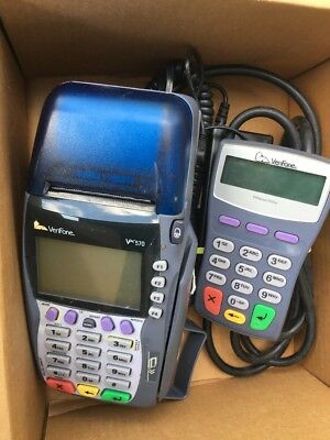 VeriFone VX570 Omni 5700 Credit Card Reader Terminal with power cord Working!