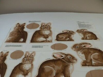 Cut Out Rabbits Panel  1 Yrd Piece  Cut Out  N Stuff  Free Shipping