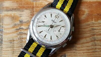 Gent's Vintage Manual Winding Wega Chronograph Wrist Watch