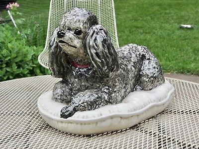 Large Ceramic Poodle Sculpture The Townsends Hollywood Regency