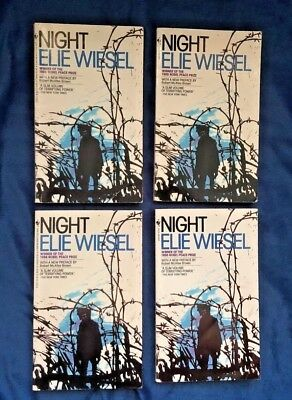 NIGHT By Elie Wiesel Teacher/Class Set LOT of 4 Copies Very Good