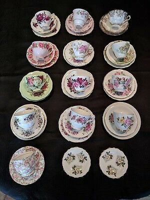 fine bone china cups, saucer and plate