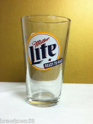 Miller Lite Ready To Race Rusty Wallace #2 beer pint pub rec room bar LO4