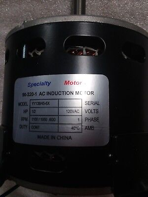 Specialty Motors 90-320-1 1/2hp Motor Model YY139/45-6X