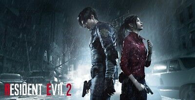 "Resident Evil 2 Remake Poster Video Game Silk Art Print 24x36"" 27x40"" 32x48"" #2"