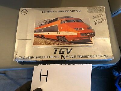 Bachmann French High Speed Tgv Train Passenger Cars And Locomotive N Scale