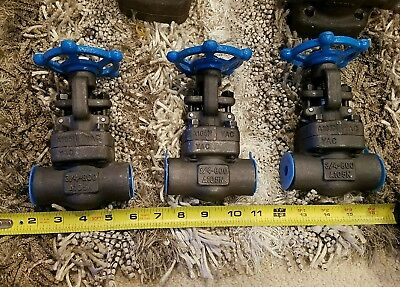 "3 QTY! Sharpe Series A105N Forged Globe Valve Threaded 3/4"" - 800"