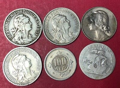 Portugal 🇵🇹 Lot 6 Coins Lot # 6670