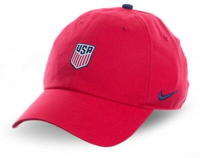 new product c6029 fae81 USA U.S.A America Nike Core H86 Soccer FIFA World Cup 2018 Red Strapback  Cap Hat