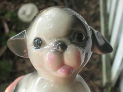 Vintage Boston Terrier Dog Puppy Figurine Maddux of California Adorable No Reser