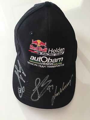 V8 Supercars Red Bull Racing/Autobarn Cap Signed By Whincup/Gisbergen & Lowndes