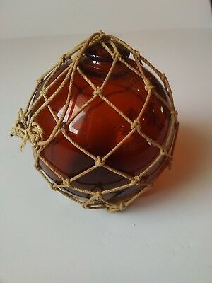 """Vintage Glass Float Fishing Ball Buoy Approximately 3.5"""" Diameter, 4"""" High"""