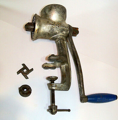 Vintage meat grinder kitchen butcher tool cooking utensil Maid Of Honor antique