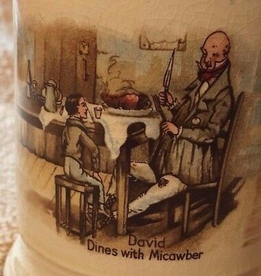 CHARLES DICKENS Mug Cup Stein ENGLAND Vintage David Copperfield Oliver Twist art
