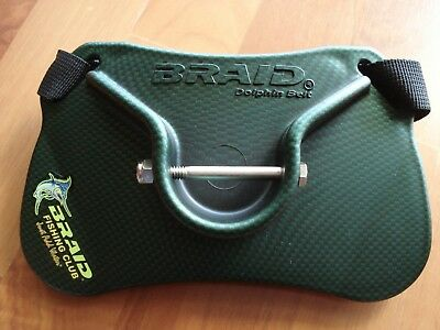 **Brand New** BRAID Dolphin Carbon Fibre Jigging Gimbal Belt with Removable Pin