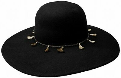 Vince Camuto NEW Black Drawstring Adjustable Tassel Chain Floppy Hat $68 #542