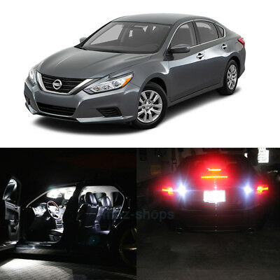 15x White LED Interior Bulbs + Reverse + Tag Lights For 2016 2017 Nissan Altima