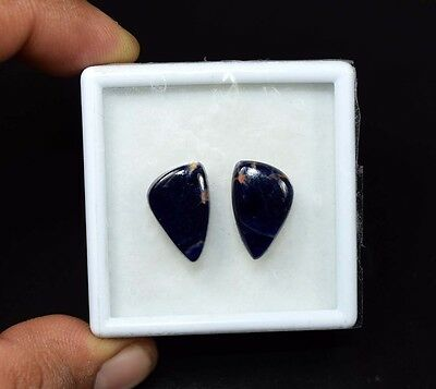10.50 Cts. 100% Natural Pair Of Multi Sodalite Fancy Cabochon Loose Gemstones
