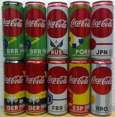 Thailand Coke 2018 FIFA World Cup Russia set 10 cans 325 ml
