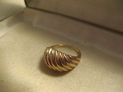 10K Yellow Gold 4.0g  Dome Ring Band SIZE 4.75