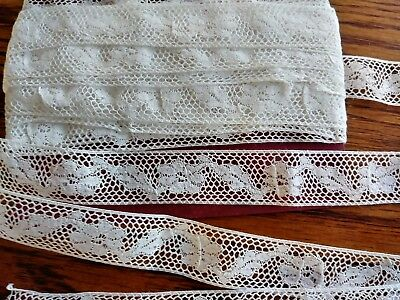 """.75"""" wide French Valencienne lace  antique net 8 yards +28"""""""