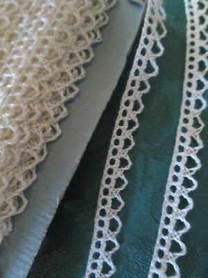 """Scalloped .25"""" Antique French edging  lace trim  6 yards vintage old stock"""