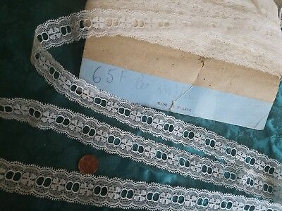 Antique French Val lace Slotted Vintage  trim  almost 7 yards