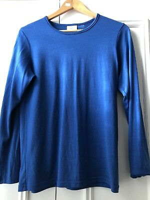 NZ Blue Merino Womems Top Medium