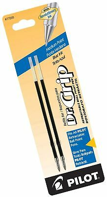 Pilot Dr. Grip Ballpoint Ink Refill, 2-Pack for Retractable Pens, Medium Poin...