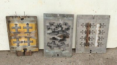 Timber patterns x 3 cleats foundry casting marine display vintage  mancave
