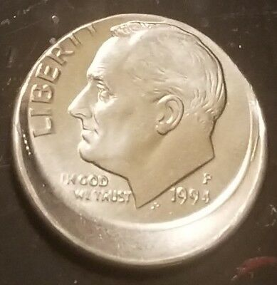 1994 P Roosevelt Dime, Off Center, Mint Error Coin Great for any Collection