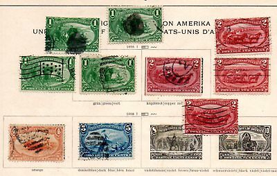 US Stamps 1898 Part Set Trans Mississippi Exposition Part Set x 10
