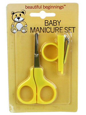 Baby Manicure Set Scissors Mini Nail Clippers Yellow