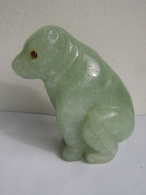 Interesting Old Chinese Carved Jade Bear Unusual Colour Faberge Russian Interest
