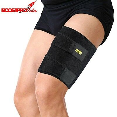 Thigh Compression Wrap Adjustable Neoprene Support Brace Hamstring Groin Sleeve