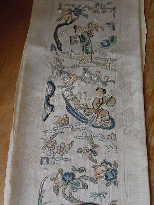WONDERFUL ANTIQUE 19th century early silk and brocade CHINESE EMBROIDERY ***HG**