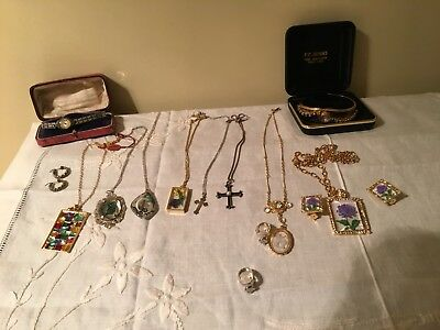 Vintage Silver Crosses & Fashion Jewellery Lot